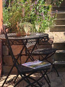 Garten - Ferienwohnung Rosarium